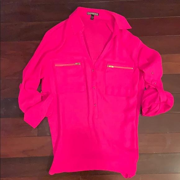 Express Tops - Express hot pink blouse